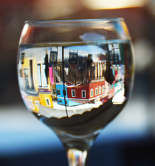 Burano in a glass (Shahrazad26) Tags: burano venetië venice venezia venedig italië italy italia italien glas glass verre weerspiegeling reflectie reflection