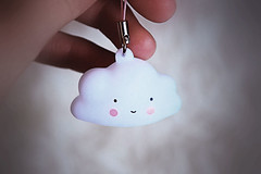 Carry a smile... and find happiness! :-) (Maria Godfrida) Tags: crazytuesday smiles keychain hand cloud funny cute happiness closeup keyhanger