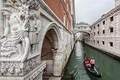 Venice (Patrick ARFI) Tags: gondoles venise casanova serinissime romanticism river city boat venezia italy cityscape gondola bridgeofsighs pontdessoupirs venice architecture sculpture