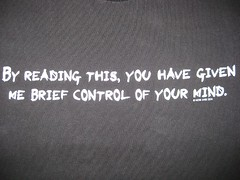 By Reading This T-Shirt (wpgtshirtguy) Tags: reading brief control mind tshirt shirt funny fun humor humorous wit witty amusing laugh laughing