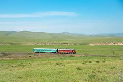 Passenger train No:706... (N.Batkhurel) Tags: season summer sky clouds railway railfan trains trainspotting transport train passengertrain mongolia monrailpic mountian m62um ngc nikon nikondf nikkor 24120mm 1520