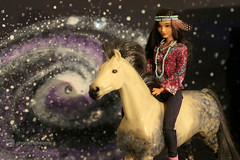 shania & her horse (photos4dreams) Tags: barbie toy doll dress kleid kleidung photos4dreams p4d photos4dreamz mattel spielzeug puppe püppchen fashionistas fashionista canoneos5dmark3 indian nativeamerican shania fjf16 chic apfelschimmelooakp4d p ooak apfelschimmel pferd horse oneofakind dapplegrey gray andalusier barbiehorse andalusianhorse diorama scenes 16
