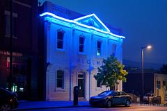 20190129-06-Blue neon (Roger T Wong) Tags: 2019 australia hobart rogertwong sel24105g sony24105 sonya7iii sonyalpha7iii sonyfe24105mmf4goss sonyilce7m3 tasmania blue building city evening neon night