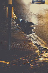Journey to Family Home [Photo Series] (Callums art) Tags: street streetlight reflection reflections evening dark night nightphoto nightphotography nightphotographer traffic road roadside pavement pedestrian city citylife urban puddle puddles car cars vehicle birmingham uk unitedkingdom brum kingsheath b14 midlands westmidlands alcesterrd alcesterroad england britain europe sony dslr photoshop filter