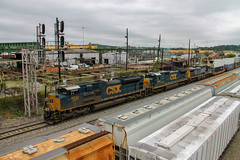 Pigs at Tilford (travisnewman100) Tags: csx train railroad rr freight intermodal container emd ge sd70ace c408 ac44cw tilford control point wa subdivision yard atlanta terminal division georgia q029