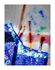 2874tTSb Artistic Licence in Blue (foxxyg2) Tags: art painterly impression colour blue digitalart topaz topazsoftware topazstudio