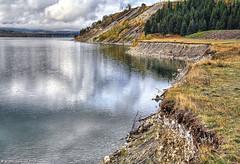 The Ghost Lake Shoreline, Alberta Canada (PhotosToArtByMike) Tags: ghostlake alberta bowriver shore shoreline canada1a cochrane canadianrockies calgary albertacanada mountain mountains