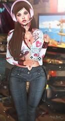 "★ Look 462 ""Gamer Girl "" (Marzia & Shaitan Demon ""Frozen Space Fashion Blog ) Tags: equal10event arte adorsy eclipseartstudio vanityhair fetishfair2019 vanityevent boldbeauty spoiled aurealisjewellery cosmopolitan events bento catwa maitreya secondlife"