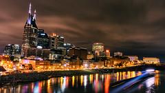 Nashville nights (Sarah Rausch) Tags: nashville tennessee longexposure barge grainy sony nashvilletn cumberland river downtown saturdaynight