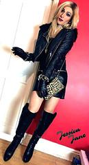 Leather & Leopard Print (jessicajane9) Tags: tg crossdresser tgurl feminised transgender crossdress travesti crossdressing tv xdress transvestite cd m2f tranny feminization trans leather tgirl boots gloves