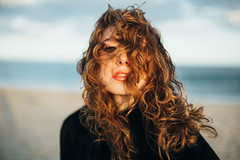 (Abigail Gorden) Tags: ocean sand beach water nature outdoor wind fashion style pretty cute beauty beautiful sexy redhead redhair ginger blueeyes self selfie selfportrait me myself capecod massachusetts winter sky waves