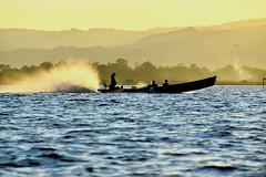 inle lake (Neal J.Wilson) Tags: water lake inle myanmar burma burmese vessel boat longtailboat silhouette travel travelling sunsets dusk sunrise dawn asia asian taxi
