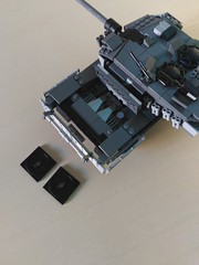 Lego Leopard 2A7+ MBT (engine compartment) (Parm Brick) Tags: military main battle tank army vehicle german leopard2 custom mod afol modern warfare war combat ground force lego leopard2a7 mbt legoleopard2a7