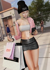 LOTD 433 (Brendo Schneuta) Tags: complex jacket dappa beanie fashionnatic ks foxy hair dubai a harajuku cosmopolitan event events phone new releases female girl backdrop poses pose moda fashion style estilo keepcalm blogger blog bloggersl secondlife secondlifeblog second sl game avatar virtual