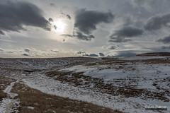 Before the Cold Front (kevin-palmer) Tags: sheridan wyoming soldierridge february winter snow snowy afternoon clouds hills sun nikond750 tamron2470mmf28 grass grassy trail path