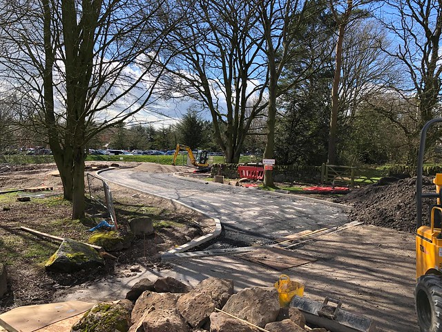 Stargazing Pods Construction - the road linking the pods to the Alton Towers Hotel