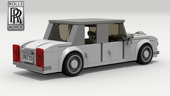 Rolls Royce Silver Shadow (new) (rear view) (LegoGuyTom) Tags: rolls royce classic vintage 1960s 1970s 1980s british britain engine european europe luxury car cars limo limousine lego ldd legos digital designer city povray pov power dropbox download lxf legodigitaldesigner legocity rollsroyce
