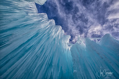 Ice Castle Looking Skyward (Joe Chowaniec Images) Tags: ice snow winter nature flickrsbest flickr yeg edmonton canada frost blue sky up skyward icicle landscape landscapes canon alberta