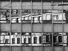 Building in Building (Andy Sut) Tags: building nottingham reflection monochrome blackandwhite bw urban citycentre architecture england uk lumix andysutton bridgecamera amateur panasonic