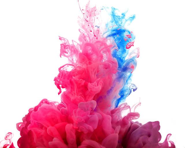 Обои фрактал, краска, свет, фон картинки на рабочий стол, фото скачать бесплатно