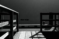 Rowing through the silence... (milance1965) Tags: weissensee kärnten österreich austria see wasser canon canon6d sigma sigma2870 schwarzweiss blackwhite absoluteblackandwhite