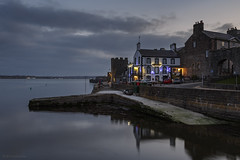 The Anglesey Arms (andyrousephotography) Tags: theangleseyarms pub harbour caernarfoncastle castle caernarfon afonseiont gwynedd wales walls spotlights firstlight bluehour longexposure