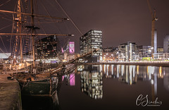 The old and the new (Explored) (C Sinclair) Tags: liverpool liverpoolatnight albertdock cityscape reflections