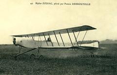 The Zodiac S-2 biplane flown by Pierre Debroutelle [France, 1911] (Kees Kort Collection) Tags: 1911 biplane debroutelle originalversion s2 zodiac