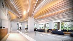 Hilton Pattaya Lumion9 #2 (kamonight) Tags: hilton pattaya thailand 3d visualizer light wave fabric ceiling reflect warm tree sky day ies artificial from flow