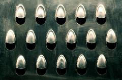 grater (HansHolt) Tags: grater holes shredder rallador râpe reibe rasp kitchen tool utensil metal metaal abstract macro canon 6d 100mm canoneos6d canonef100mmf28macrousm hss