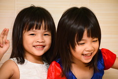 Sister (Zero'sPhoto) Tags: child portrait 人像 小孩 姐妹 sister adorable