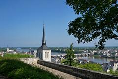 Vue sur Saumur depuis le château (Livith Muse) Tags: église arbre fleuve rivière eau pont ville saumur paysdelaloire france fra