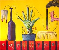 Flower (alvasliapin) Tags: цветок натюрморт картина акрил холст горшок рука желтый зеленый сигарета дым расческа бутылка зуб flower stilllife painting acrylic canvas pot hand yellow green cigarette smoke comb bottle tooth