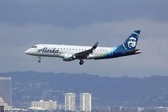 ERJ-175 N186SY Los Angeles 21.03.19 (jonf45 - 5 million views -Thank you) Tags: airliner civil aircraft jet plane flight aviation lax los angeles international airport erj 175 alaska airlines embraer erj175 n186sy