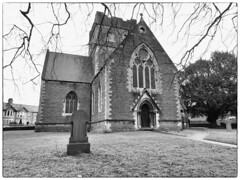 Roath St Margarets (garethedwards36) Tags: church chapel architecture building monochrome roath cardiff wales uk panasonic lumix affinityphoto