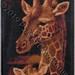 ''Giraffe + Baby'' by Vickie S, diamond dot, $55.00