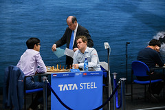Fateful draw (Julysha) Tags: tatasteelchesstournament people chess chessplayer thenetherlands wijkaanzee january winter acr 2019 d850 nikkor7020028vrii tournament