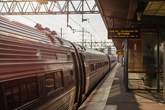 Arriving (bold.) Tags: vacation holidays train 2018 50mm ef canon stamford connecticut unitedstates us