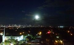 Moon over Miami (MerperC) Tags: miami fl florida skyline buildings moon night unitedstates usa us