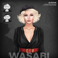 New Queenie @ The World of Magic! (Wasabi // Hair Store) Tags: 3d mesh hair wasabipills secondlife zenith aviglam erde maitreya catwa glamaffair kibitz