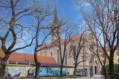 (Yvan Rouxel) Tags: cityofzagreb croatia january saintfrancisassisischurch wpcroatia winter zagreb hrv