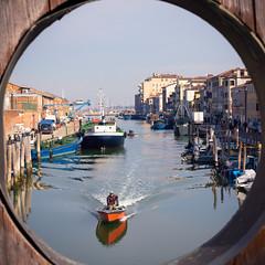(Giovanni Piero Pellegrini) Tags: chioggia veneto italy italia canal canals fishing boat docks dock port harbor pier bridge boats venice travel