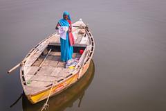 Varanasi | Uttar Pradesh (chamorojas) Tags: chamorojas albertorojas ganges india india20182019 uttarpradesh varanasi boat woman smile benares banaras