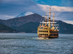 Lake Ashi - Hakone (Mick Gallemore) Tags: japan japanese lake hakone ashi mt fuji ship lumix panasonic g80 g85 mountain micro four thirds m43