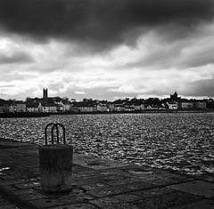 Donaghadee (fudgefishmono) Tags: ilfordhp5400 pulled 1 stop dramatic sky sea coast codown harbour bollard fujifilmgf670 selfdeveloped