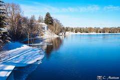 190102-41 Lac Aylmer (clamato39) Tags: lac lake eau water hiver winter snow neige ciel sky provincedequébec québec canada nature blue