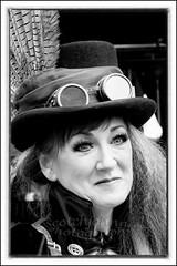 IMG_0158-7 Re-Edit (Scotchjohnnie) Tags: whitbysteampunkweekendfebuary2019 whitbysteampunkweekend steampunk portrait people female costume yorkshire northyorkshire blackwhite mono monochrome canon canoneos canon7dmkii canonef70200mmf28lisiiusm scotchjohnnie