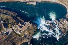 Rheinfall DJI (my-northlands.com) Tags: rheinfalls rheinfall rhein canon nisi dji switzerland winter falls castle schaffhausen