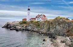 Portland Head Light. Portland, Maine (mtm2935) Tags: landmark iconic historic cape sea fog light ocean coastal maine portland lighthouse