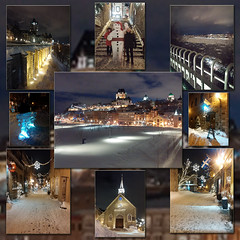 Old Quebec City (SavingMemories) Tags: quebec canada winter oldquebeccity wintercarnival bonhommecarnival bonhomme promenadedesgouverneurs governorspromenade thepromenade citywalls fortification cliff upperandloweroldquebeccity chateaufrontenac quebeccityatnight ruedupetitchamplain snow snowcoveredstreets oldworldcharm skyline quebecskyline levisskyline icesculpture loncleantoine nightlife parade wintercarnivalparade notredamedesvictoires church oldestchurchincanada placeroyale firstsettlementcanada champlainshabitation collage charm history canadianhistory suemoffett travel travelcanada placestosee bucketlist